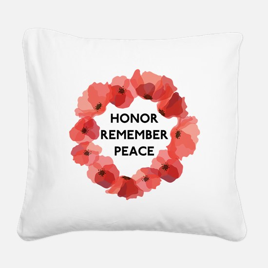 Remembrance Day Square Canvas Pillow