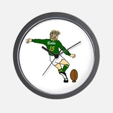 Springbok Rugby Fullback Wall Clock