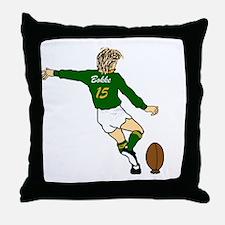 Springbok Rugby Fullback Throw Pillow