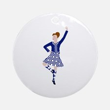 Scottish Dancer Round Ornament