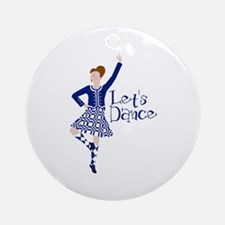 Lets Dance Round Ornament