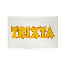 Funny Halloween Trixta Rectangle Magnet