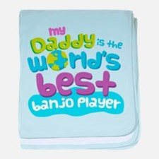 Banjo Player Gifts for Kids baby blanket