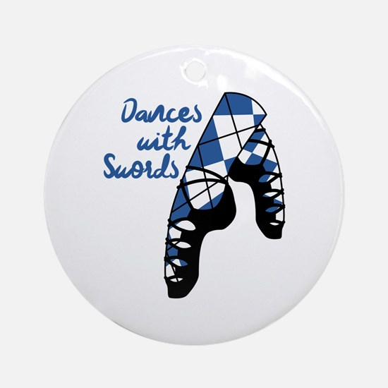 Dances With Swords Round Ornament