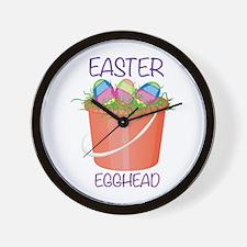 Easter Egghead Wall Clock