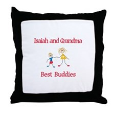 Isaiah & Grandma - Buddies Throw Pillow