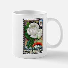Vintage White Climbing Rose Mug