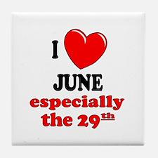 June 29th Tile Coaster