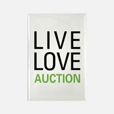 Live Love Auction Rectangle Magnet
