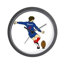 French Rugby Kicker Wall Clock