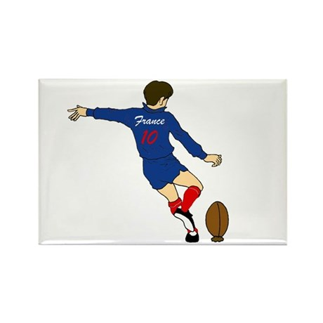 French Rugby Kicker Rectangle Magnet
