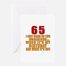 65 Birthday Designs Greeting Card