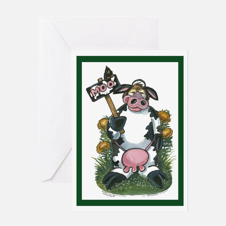 Cow Costume Greeting Card