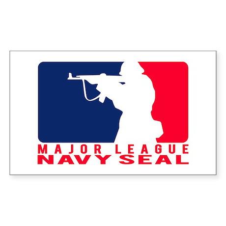 Major League Seal 2 - NAVY Rectangle Sticker