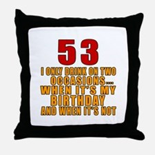 53 Birthday Designs Throw Pillow