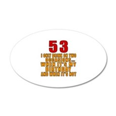 53 Birthday Designs Wall Decal