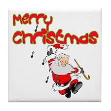 Christmas Rocks Tile Coaster
