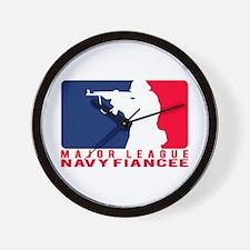Major League Fiancee 2 - NAVY Wall Clock