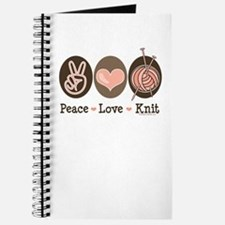 Peace Love Knit Knitting Journal