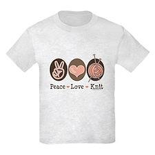 Peace Love Knit Knitting T-Shirt