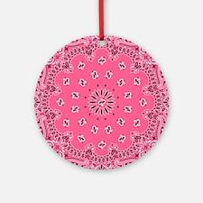 Pink Bandana Round Ornament