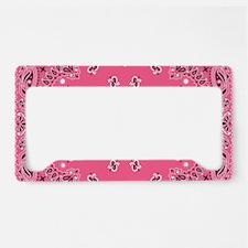 Pink Bandana License Plate Holder