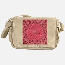 Pink Bandana Messenger Bag