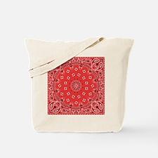 Red Bandana Tote Bag