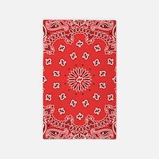 Red Bandana Area Rug