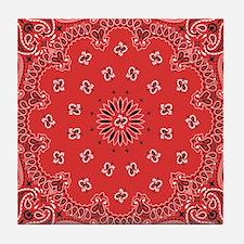Red Bandana Tile Coaster