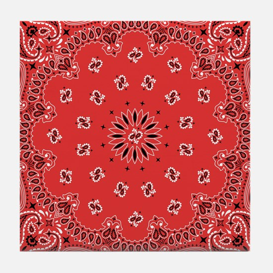 Red Bandana Tile Coaster