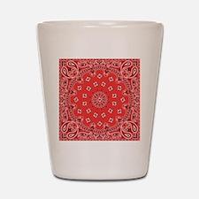 Red Bandana Shot Glass