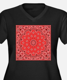 Red Bandana Plus Size T-Shirt