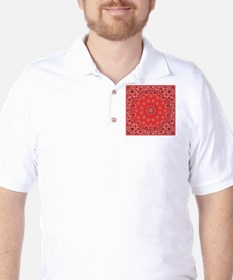 Red Bandana Golf Shirt