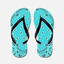 Turquoise Bandana Flip Flops