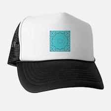 Turquoise Bandana Trucker Hat