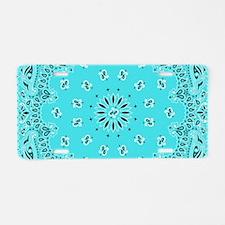 Turquoise Bandana Aluminum License Plate