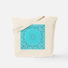 Turquoise Bandana Tote Bag