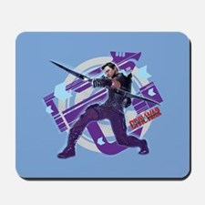Hawkeye Attacking - Captain America: Civ Mousepad