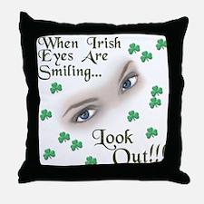When Irish Eyes Are Smiling Throw Pillow