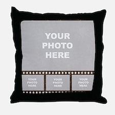 Custom Vintage Film Strip Throw Pillow