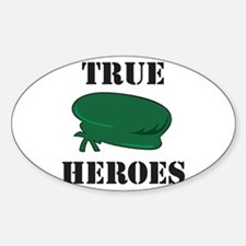 True Heroes Green Beret Oval Decal