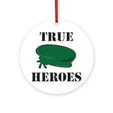 True Heroes Green Beret Ornament (Round)