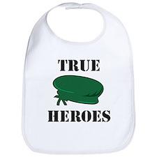 True Heroes Green Beret Bib