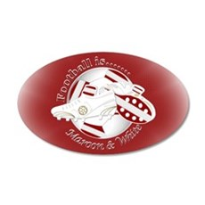 Maroon and White Football Soccer Wall Decal