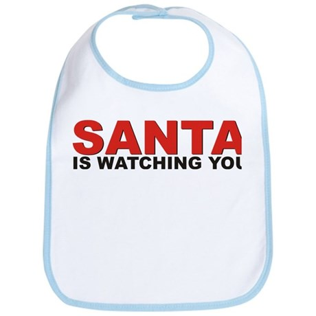 Santa is Watching You Bib