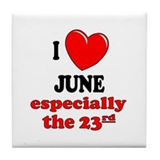 June 23rd Tile Coaster