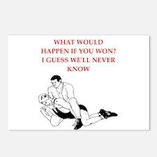 wrestling joke Postcards (Package of 8)