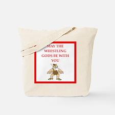 wrestling joke Tote Bag