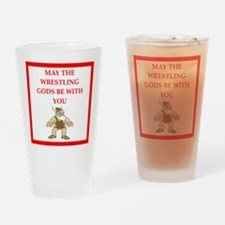 wrestling joke Drinking Glass